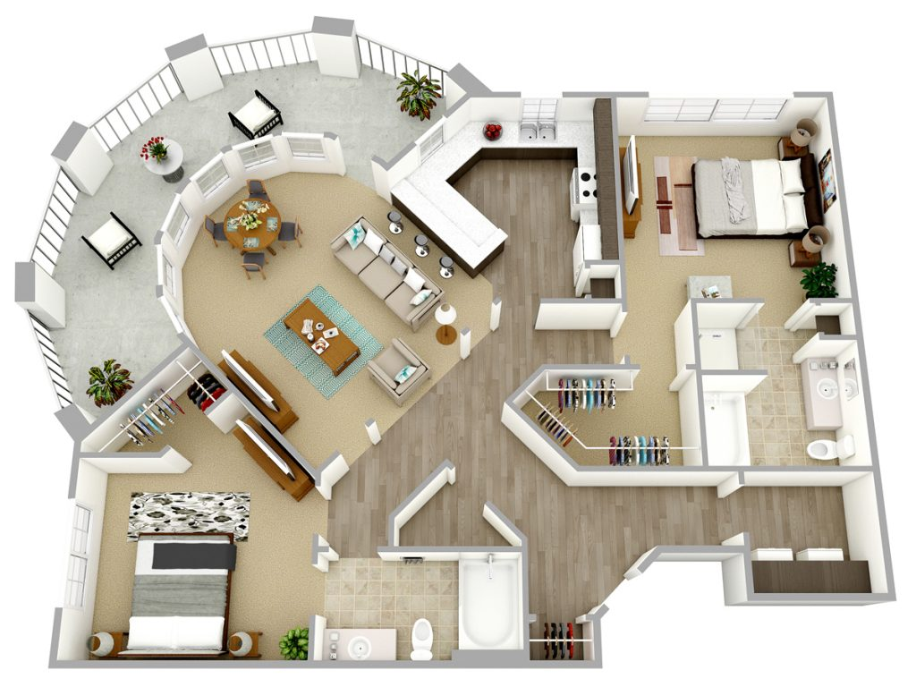Captivating 3D Floor Plans